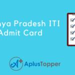 Madhya Pradesh ITI Admit Card