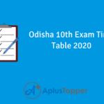 Odisha 10thExam Time Table