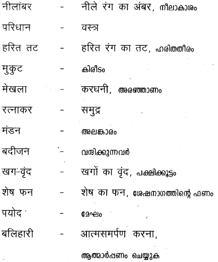 Plus Two Hind Textbook Answers Unit 1 Chapter 1 मातृभूमि (कविता) 7