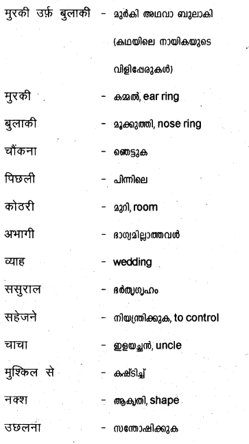 Plus Two Hind Textbook Answers Unit 3 Chapter 3 मुरकी उर्फ बुलाकी (कहानी) 18