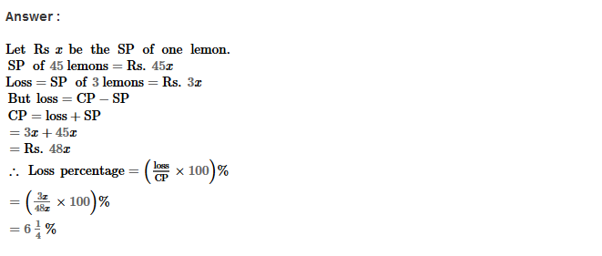 Profit and Loss RS Aggarwal Class 8 Maths Solutions Ex 10A 12.1