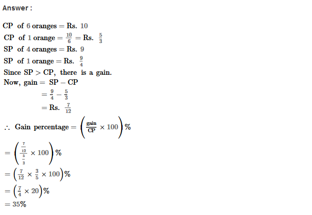 Profit and Loss RS Aggarwal Class 8 Maths Solutions Ex 10A 13.1