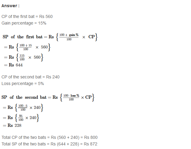 Profit and Loss RS Aggarwal Class 8 Maths Solutions Ex 10A 23.1
