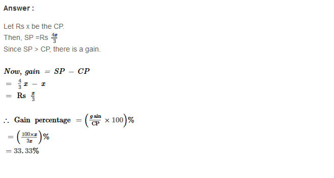 Profit and Loss RS Aggarwal Class 8 Maths Solutions Ex 10A 26.1