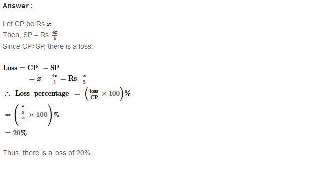 Profit and Loss RS Aggarwal Class 8 Maths Solutions Ex 10A 27.1