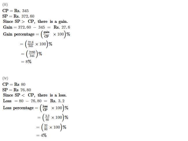 Profit and Loss RS Aggarwal Class 8 Maths Solutions Ex 10A 3.2