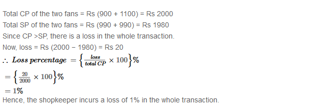 Profit and Loss RS Aggarwal Class 8 Maths Solutions Ex 10A 32.2
