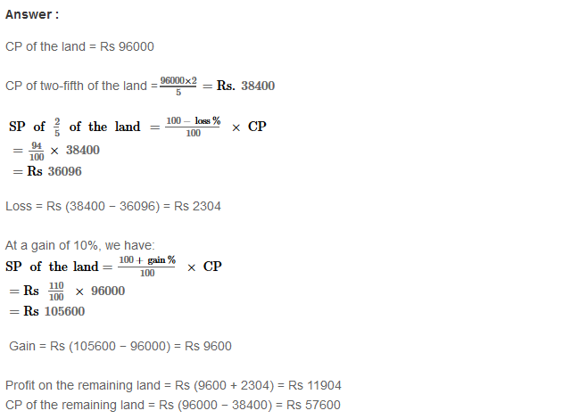 Profit and Loss RS Aggarwal Class 8 Maths Solutions Ex 10A 34.1
