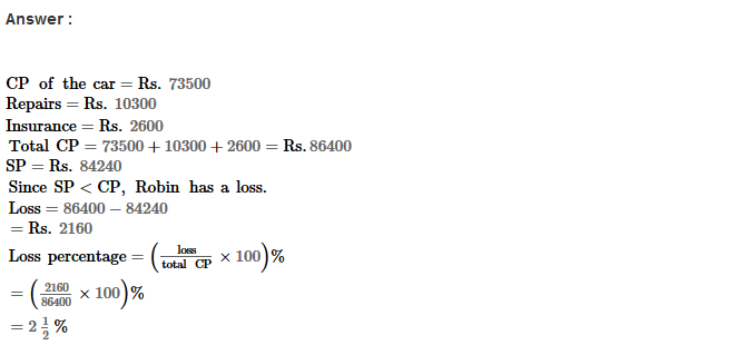 Profit and Loss RS Aggarwal Class 8 Maths Solutions Ex 10A 6.1
