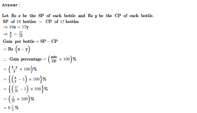 Profit and Loss RS Aggarwal Class 8 Maths Solutions Ex 10A 9.1