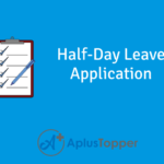 Half-Day Leave Application