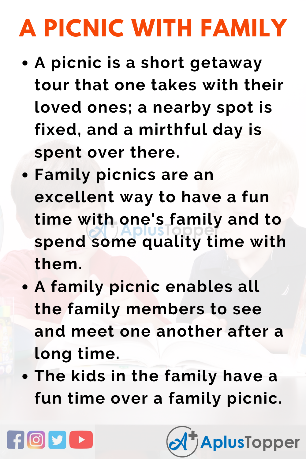 A Picnic with Family Essay
