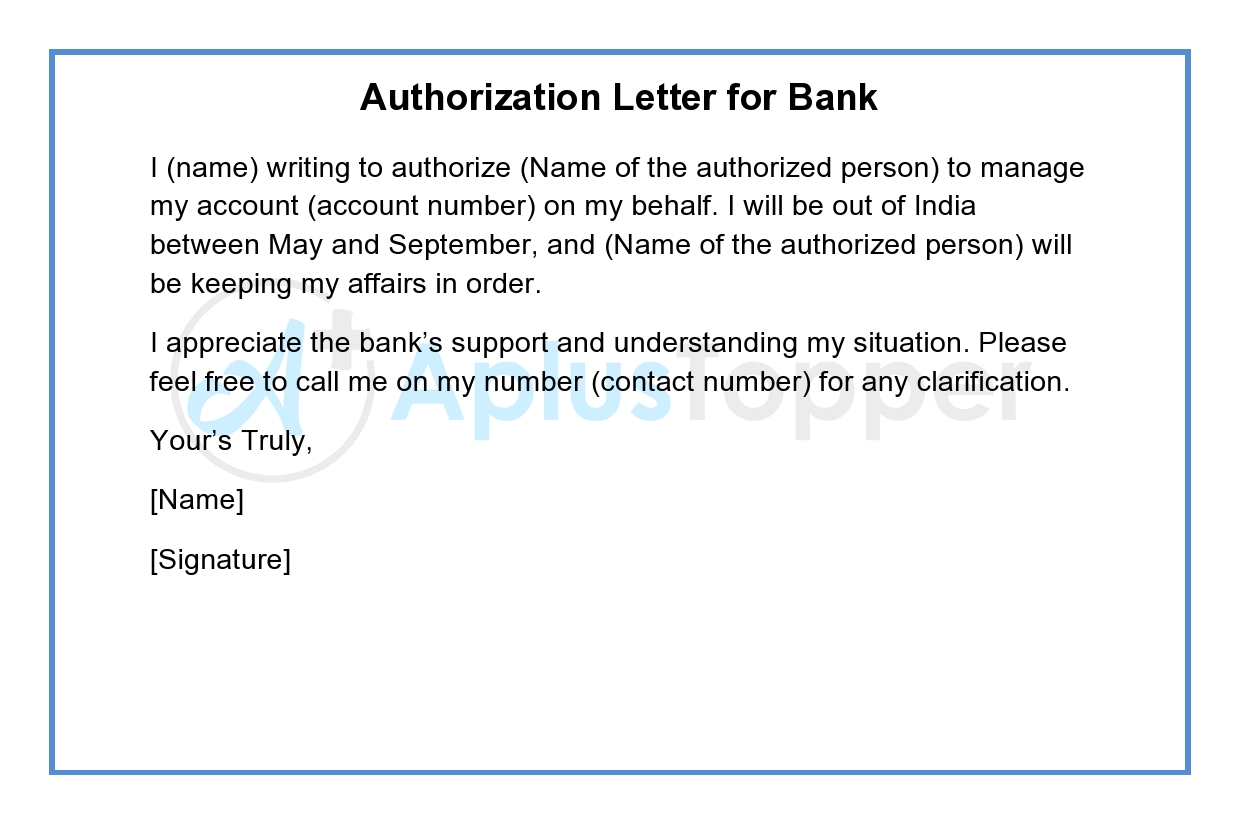 Authorization Letter for Bank