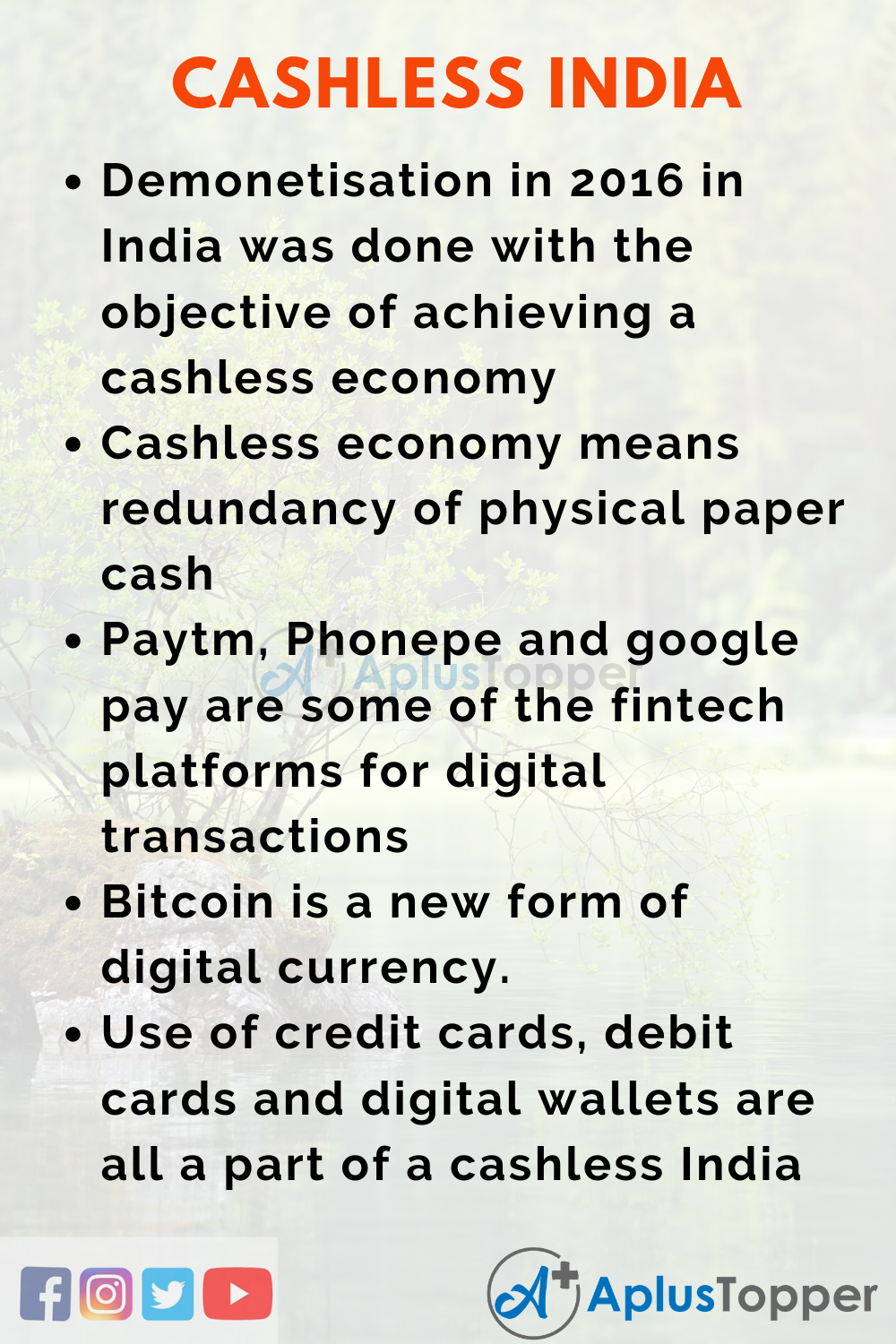 Cashless India Essay