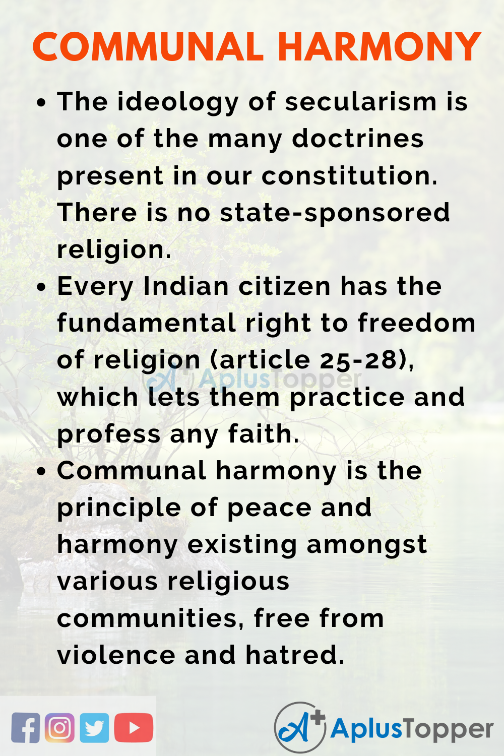 essay on role of education in communal harmony
