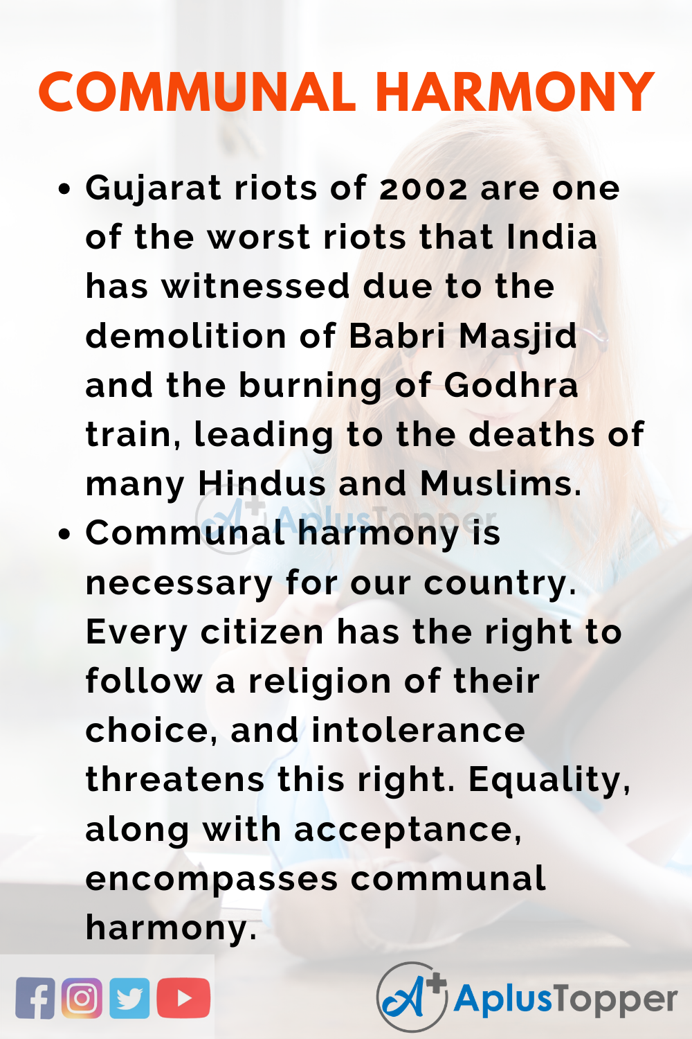 Essay About Communal Harmony