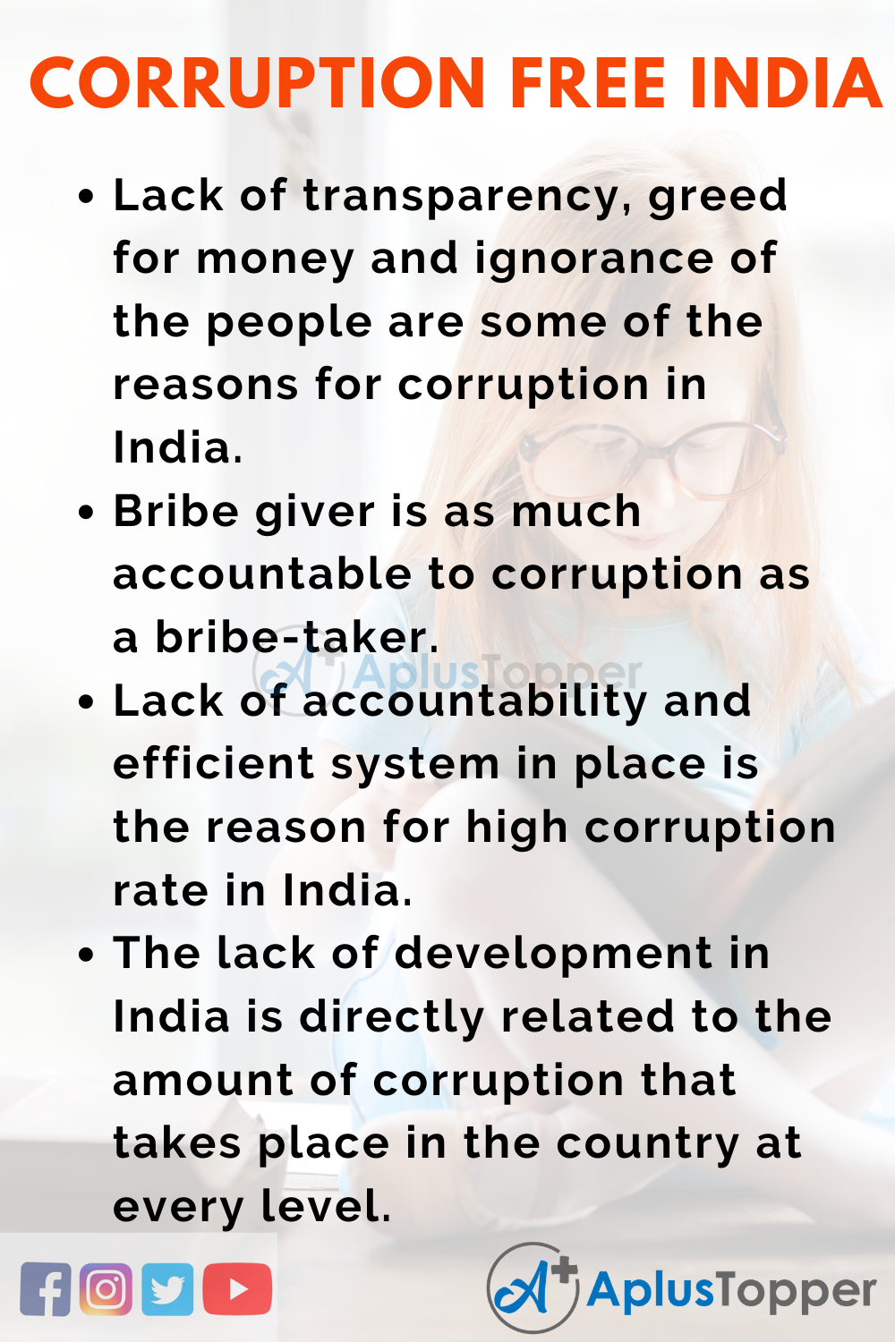 Essay About Corruption Free India