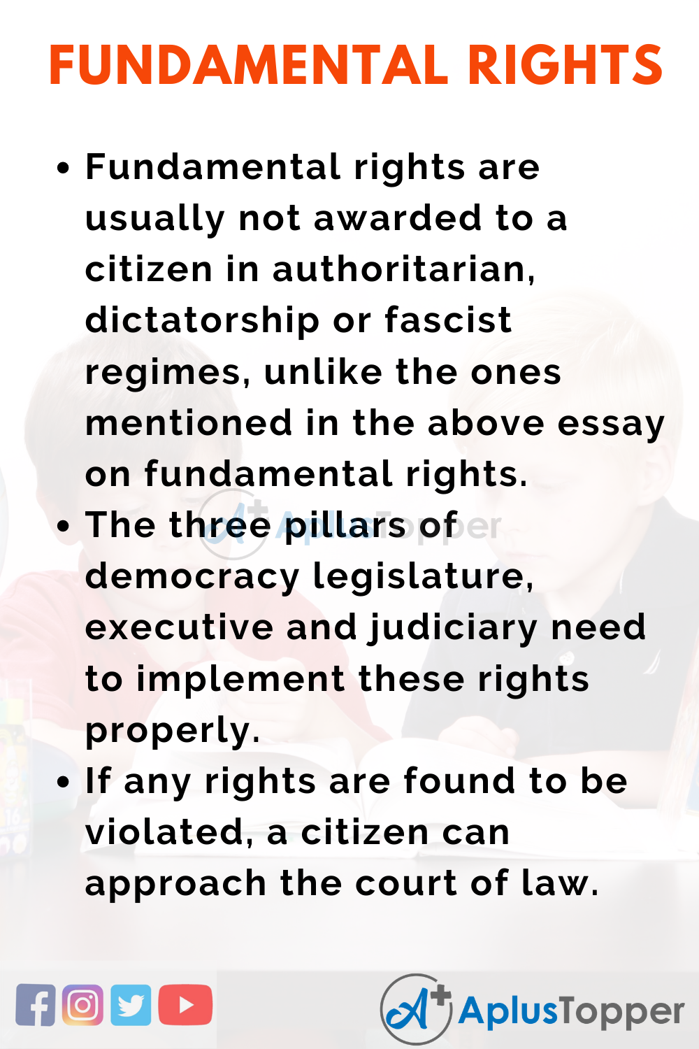 Essay About Fundamental Rights