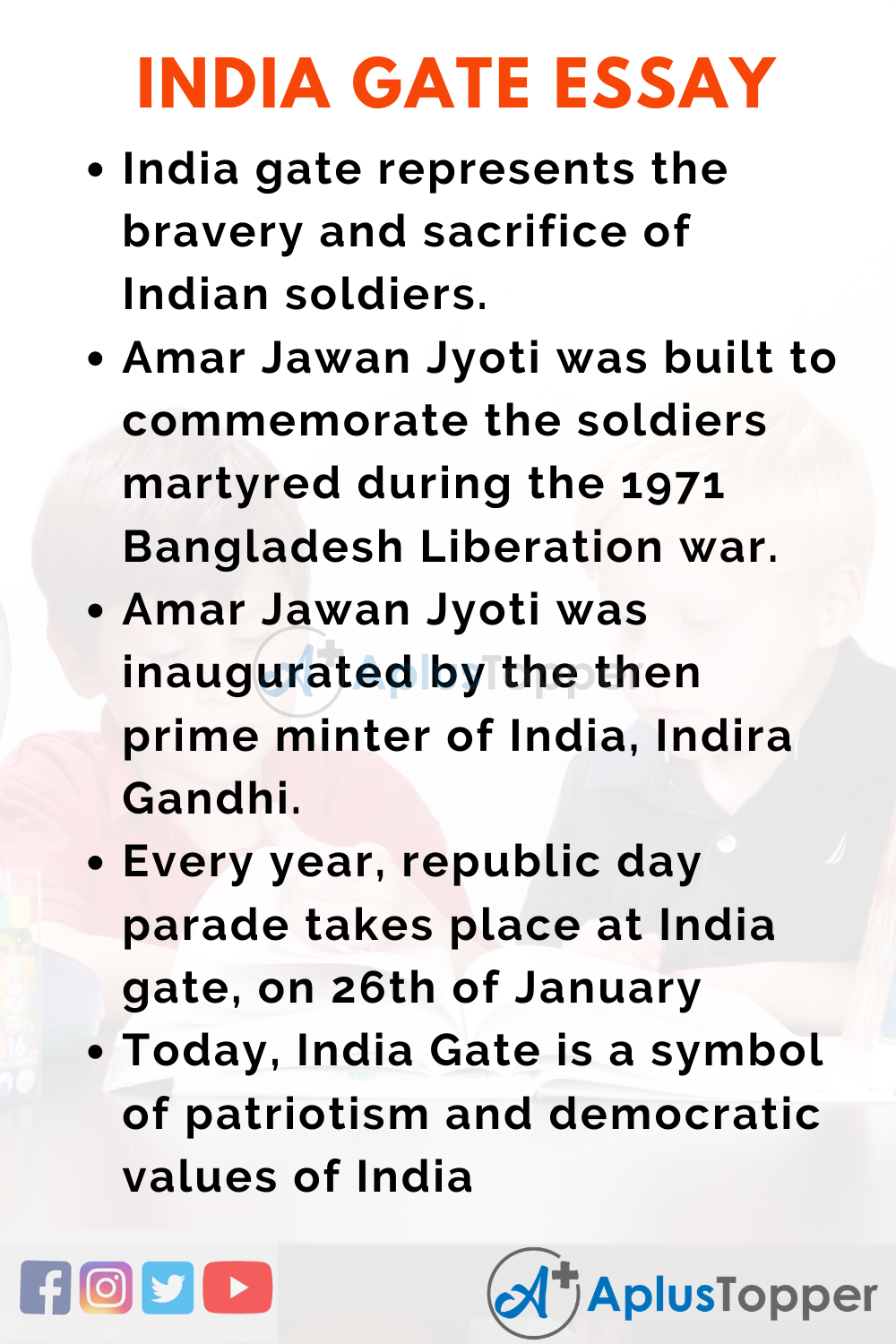Essay About India Gate