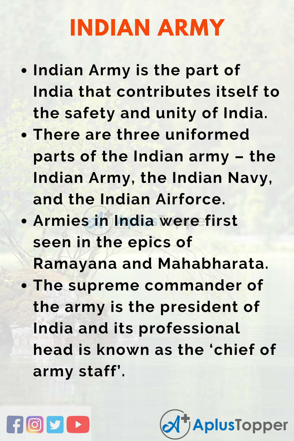 Essay About Indian Army