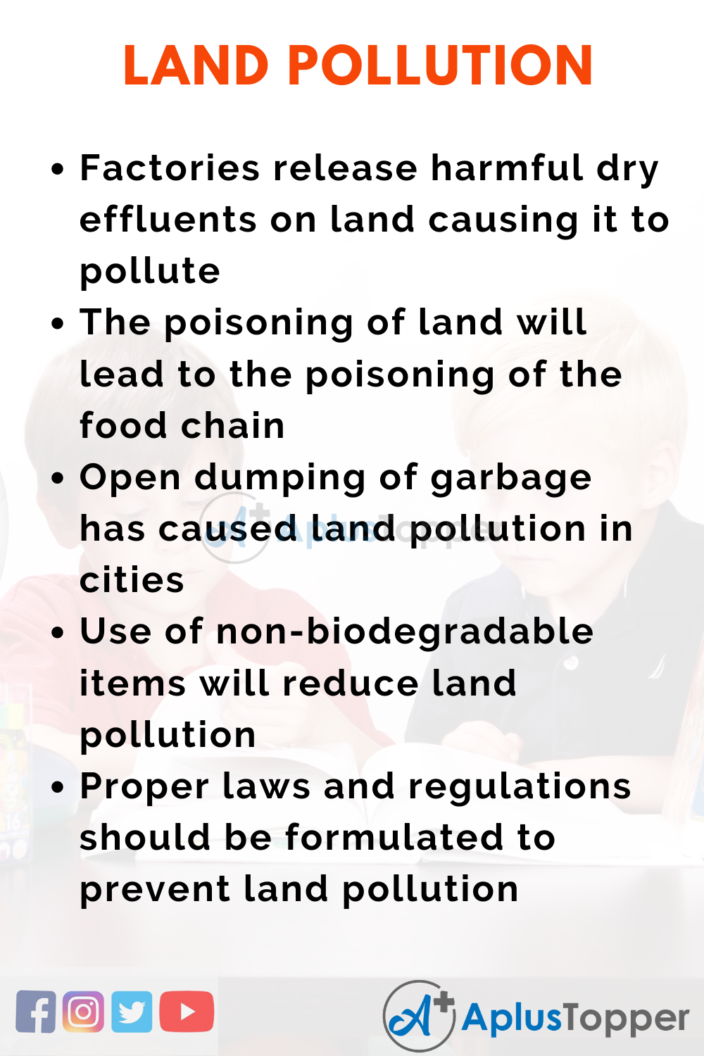 Essay About Land Pollution