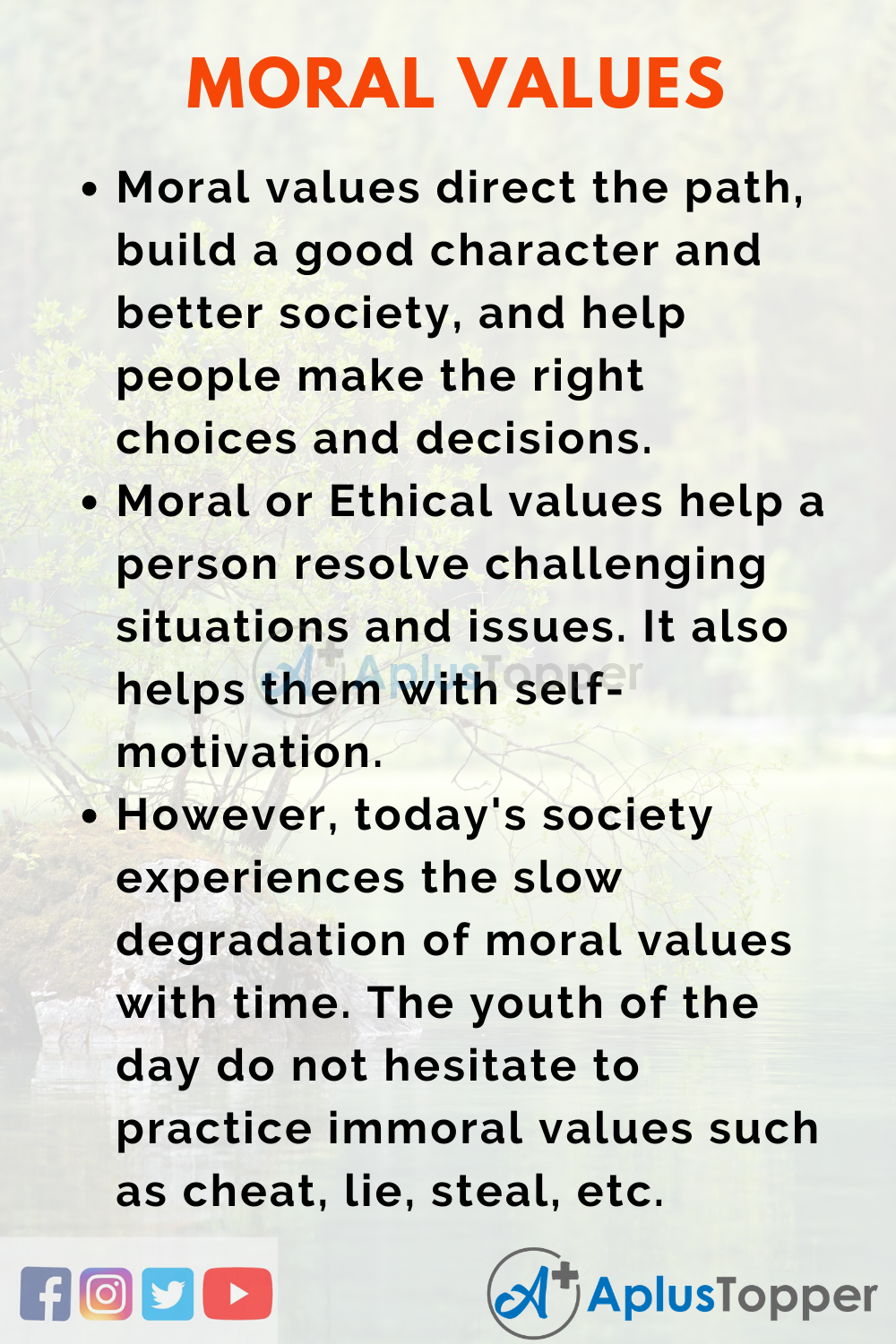 Essay About Moral Values
