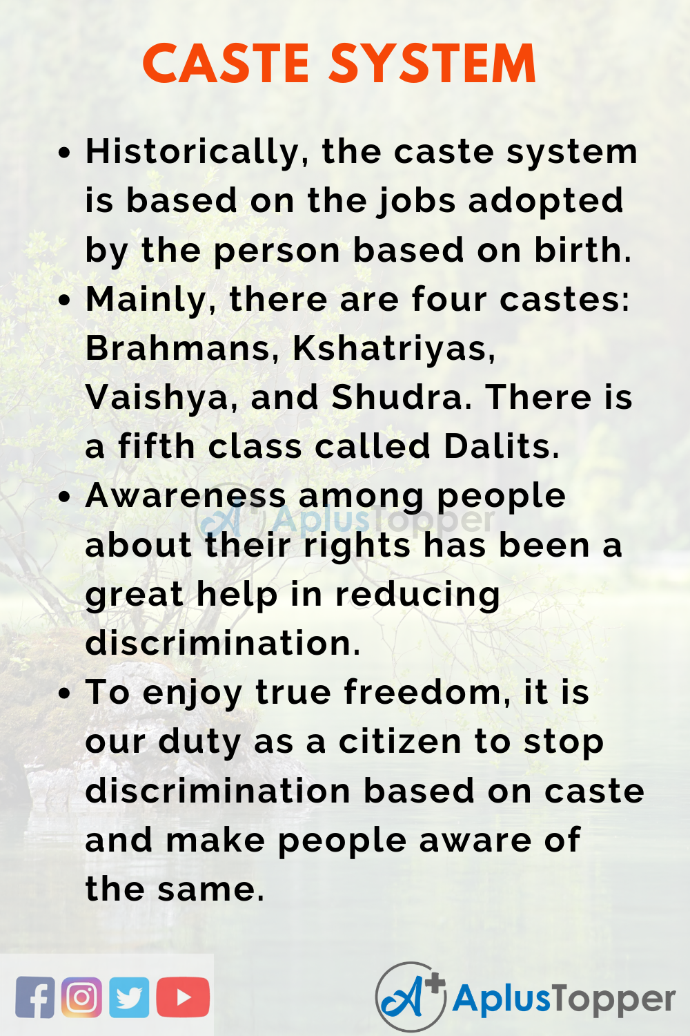 Essay about Caste System India