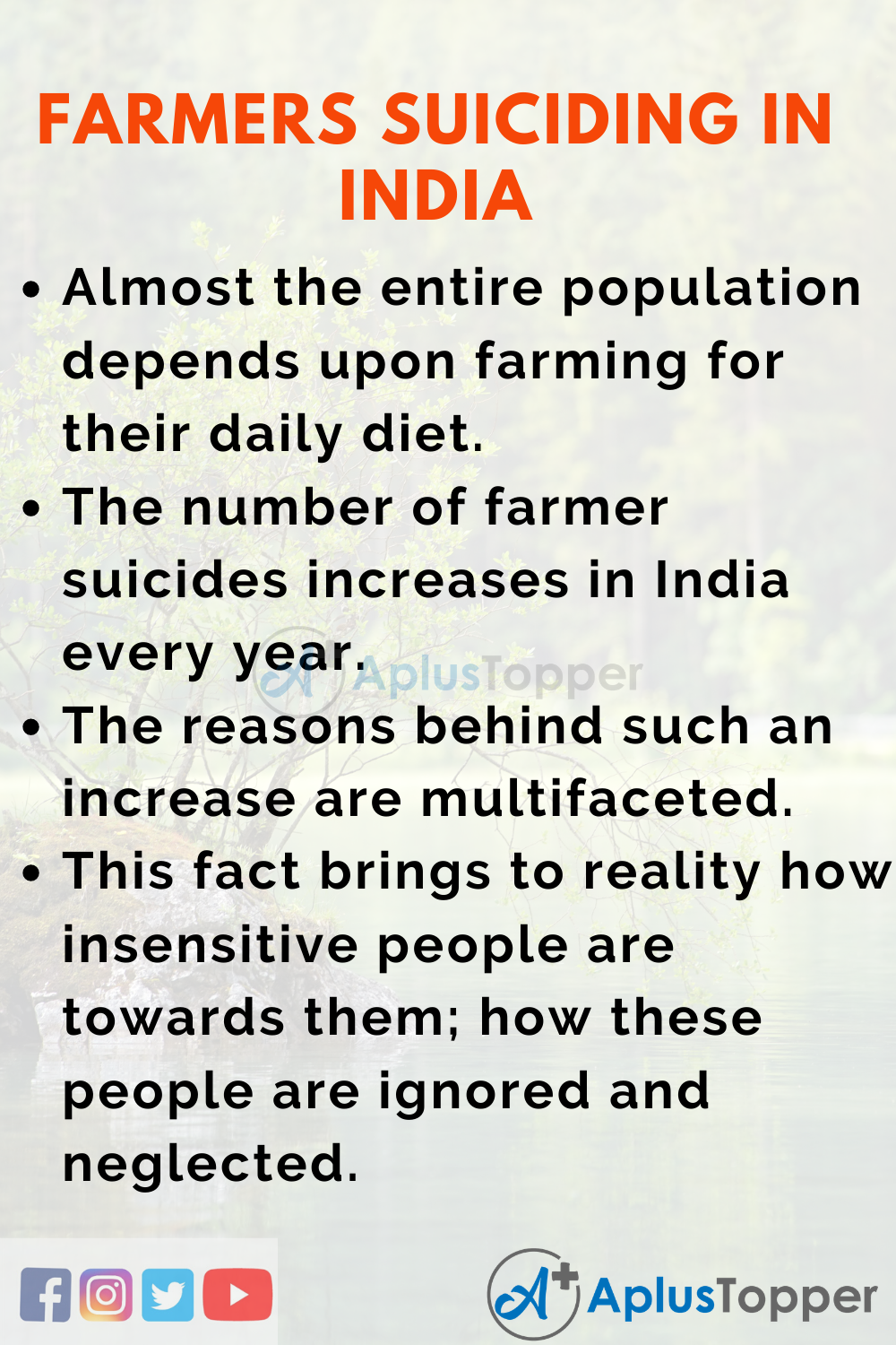 Essay about Farmers Suiciding in India