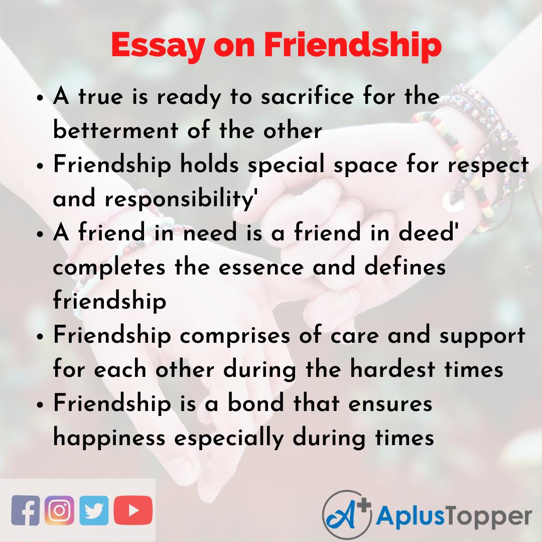 valuing friendship essay