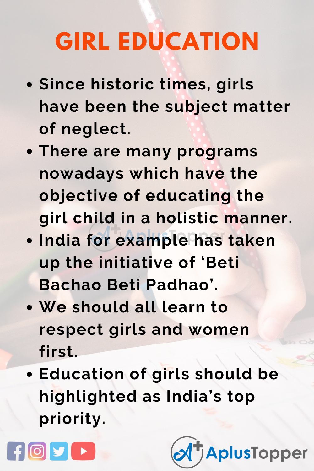 Essay about Girl Education