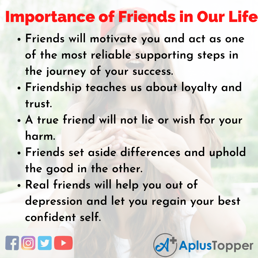 Essay about Importance of Friends in Our Life