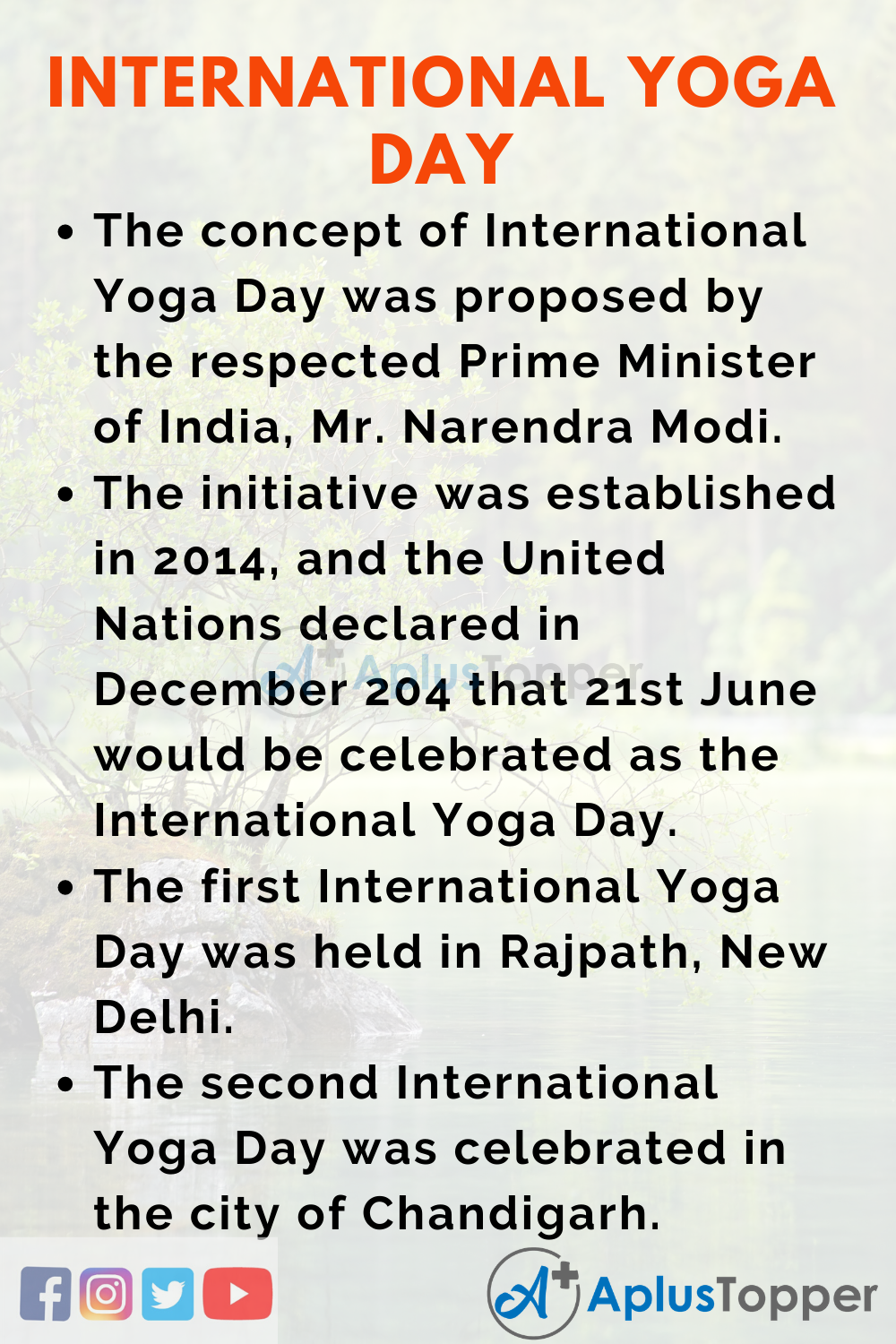 Essay about International Yoga Day