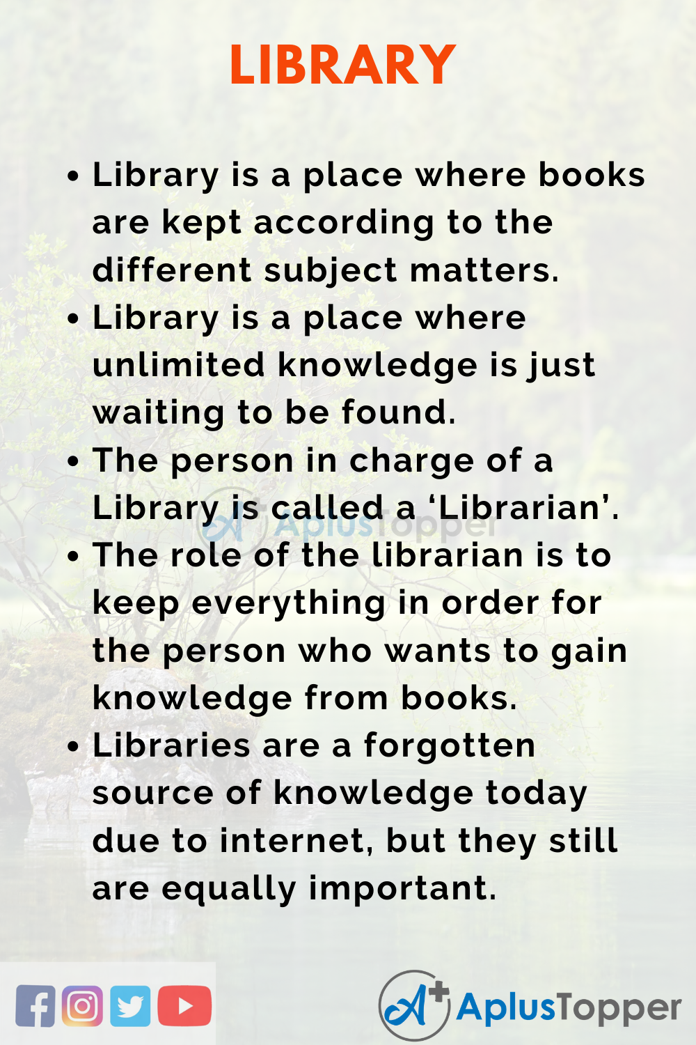 Essay about Library and its uses