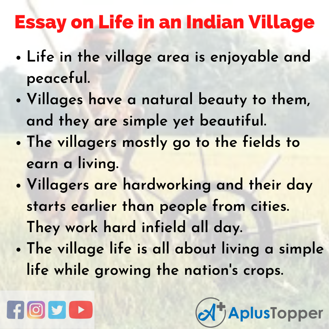 Essay about Life in an Indian Village