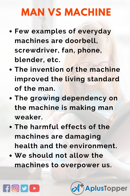 Essay about Man Vs Machine