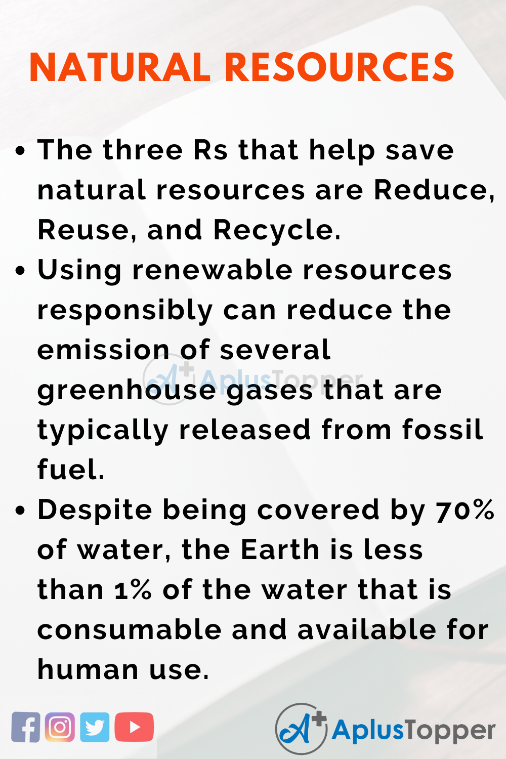 Essay about Natural Resources