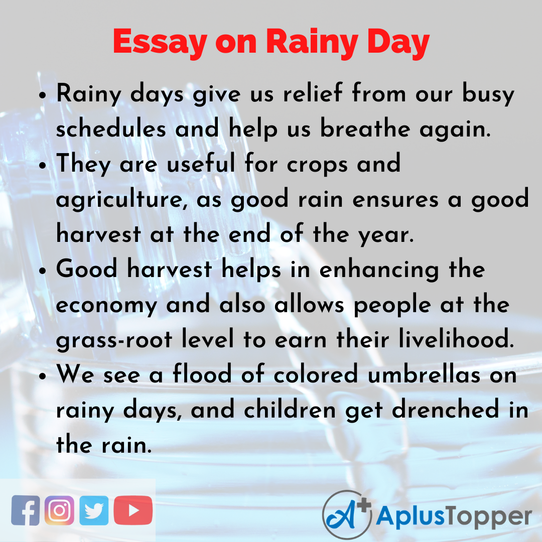 Essay about Rainy Day