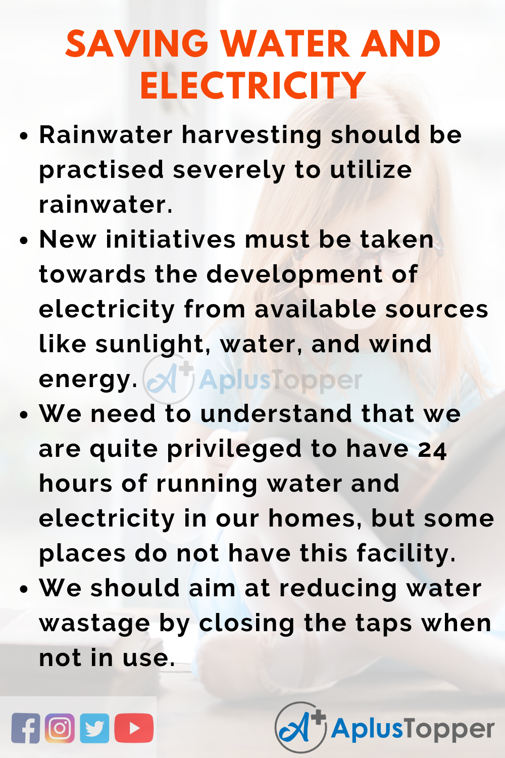 Essay about Saving Water and Electricity