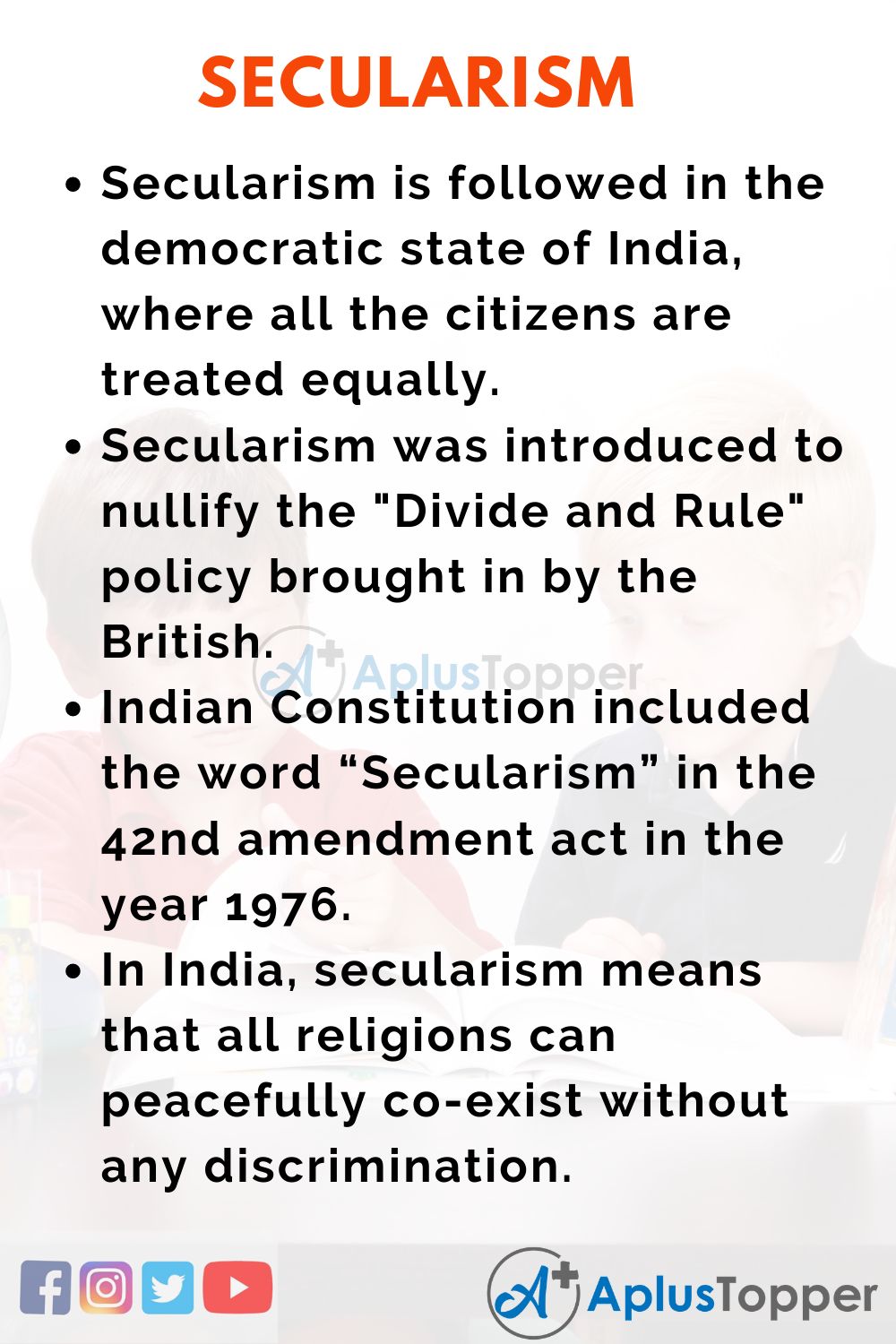 Essay about Secularism