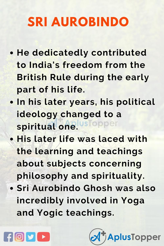 Essay about Sri Aurobindo