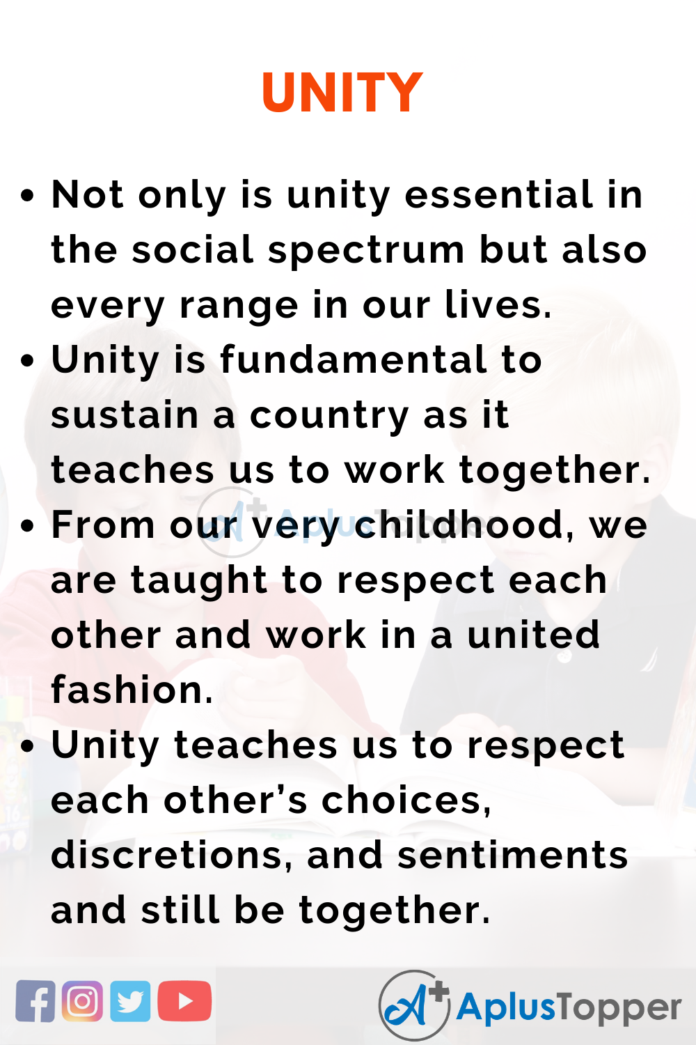 Essay about Unity
