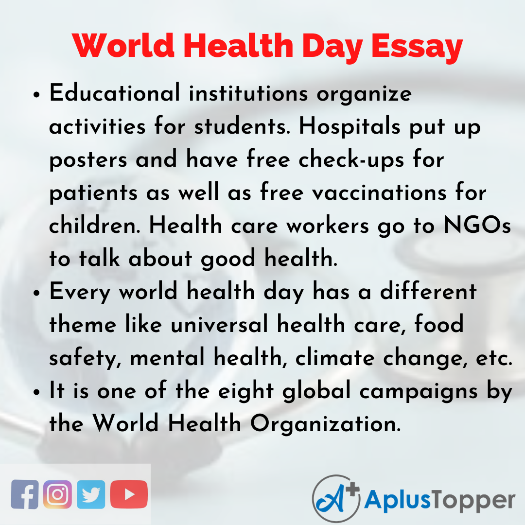Essay about World Health Day