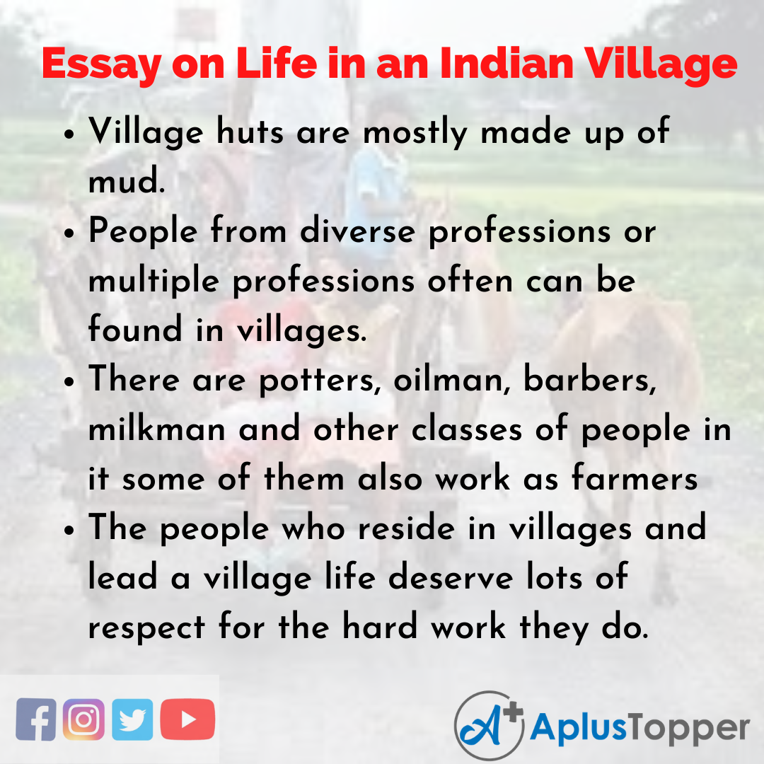 Essay for Life in an Indian Village