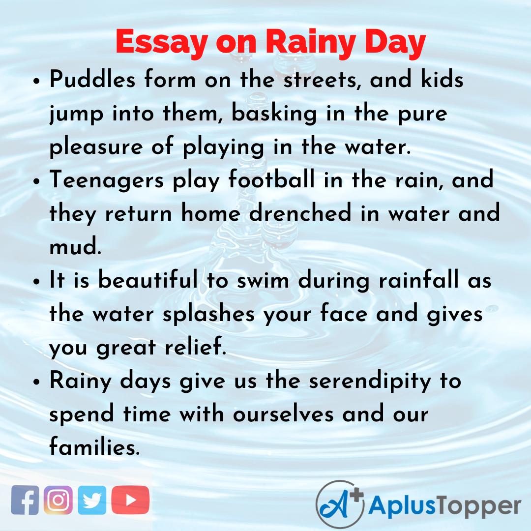 Essay for Rainy Day