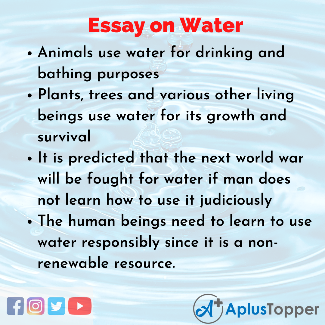 Essay for Water