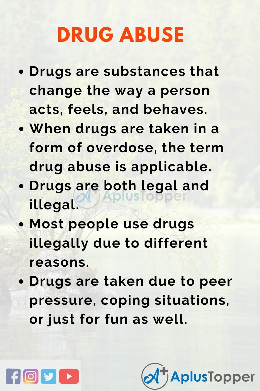 Essay on Drug Abuse