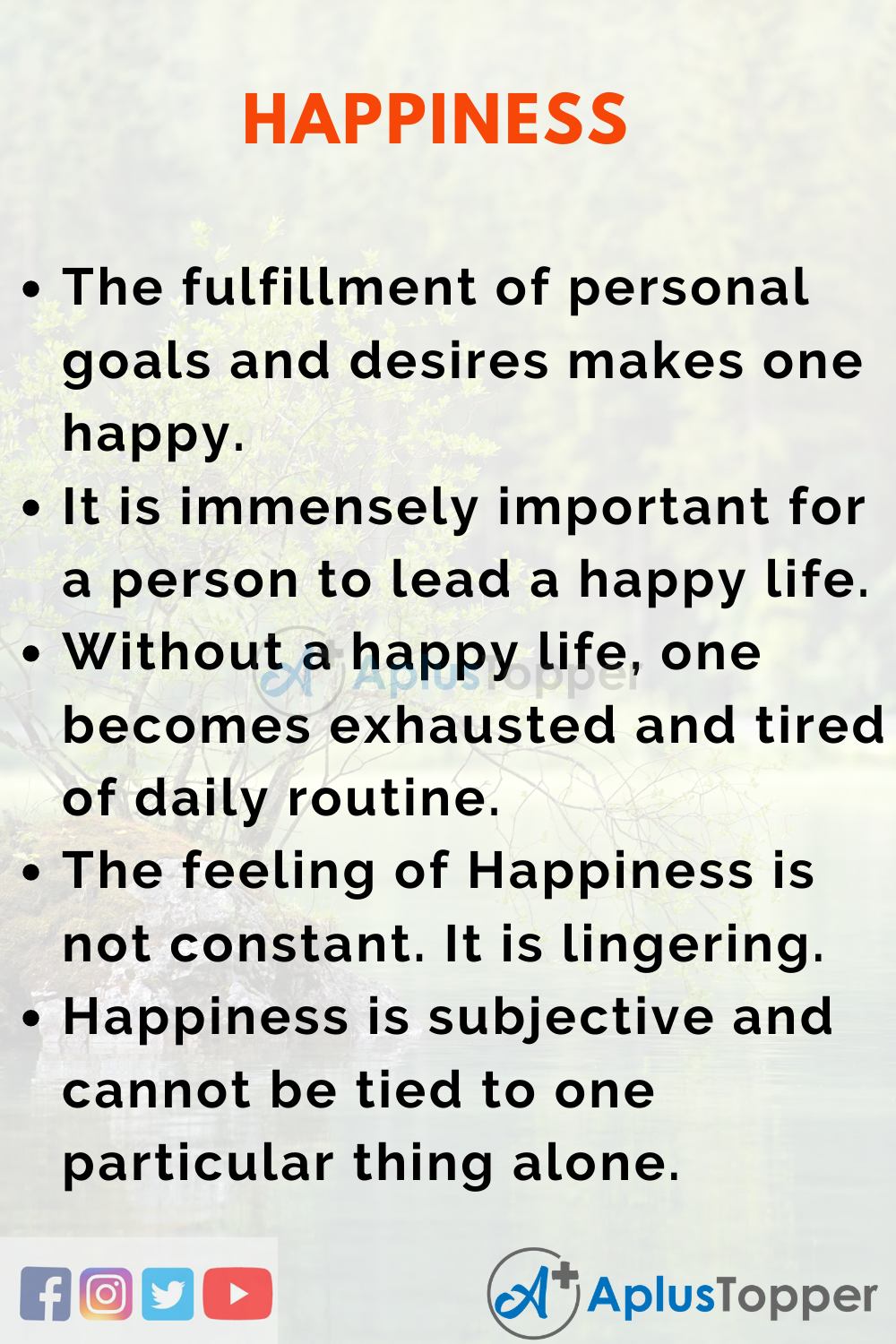 Essay on Happiness
