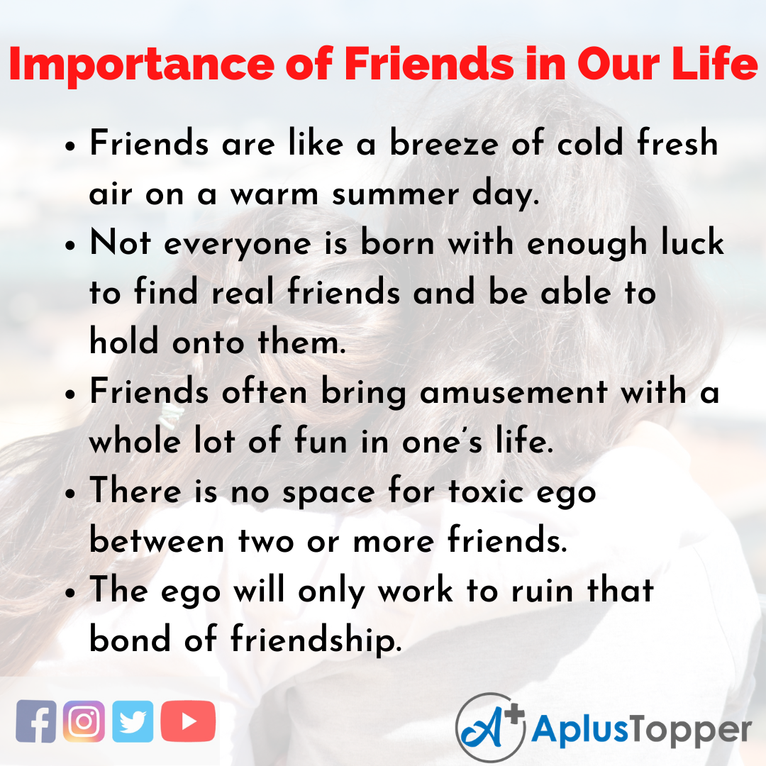 Essay on Importance of Friends in Our Life