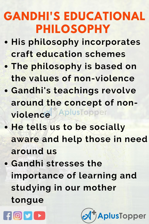 Essay on Mahatma Gandhi's Educational Philosophy