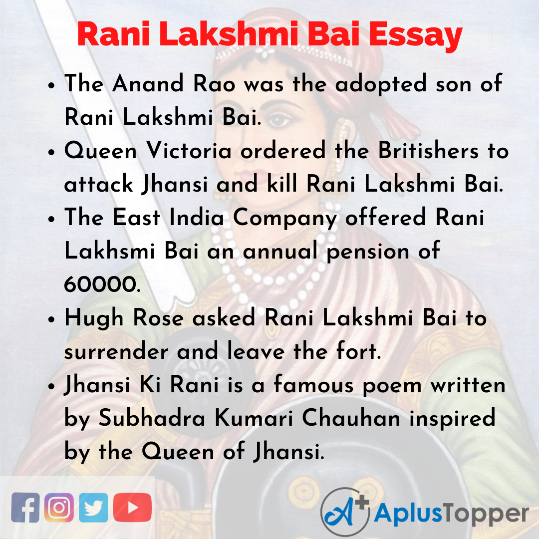 Essay on Rani Lakshmi Bai